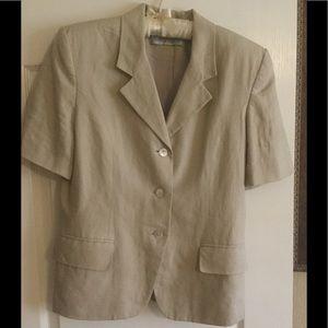 Amanda Smith 1990's Vintage Linen Suit
